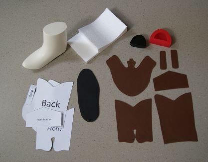 fondant cowboy boot template