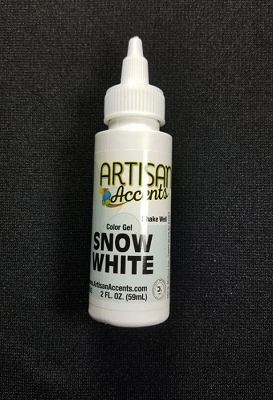 Snow White 2 fl. oz. Gel Color By Artisan Accents