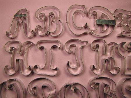alphabet upper case fancy 3quot With fancy letter cookie cutters