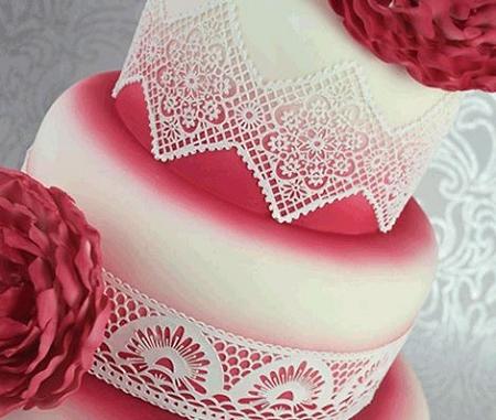 Art Deco Large Sugar Dress Cake Lace Mat By Claire Bowman
