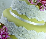 Broderie Anglaise Sugar Dress Cake Lace Mat By Claire Bowman