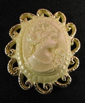 Brooch Cameo Scroll By Sugar Delites