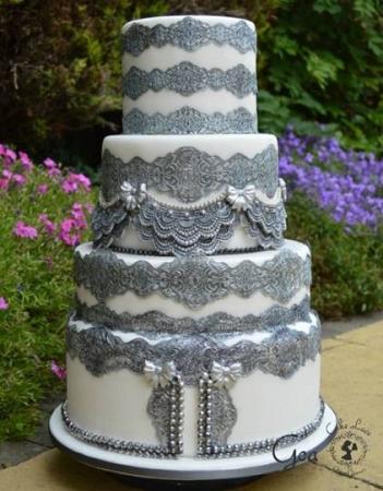 Goa Sugar Dress Cake Lace Mat By Claire Bowman