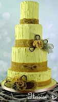 Burlap Hessian Sugar Dress Cake Lace Mat By Claire Bowman
