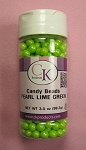 Candy Beads Pearl Lime Green