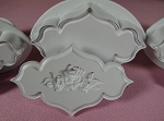 Plaque Embossing Plungers Plain & Rose Design Set PME