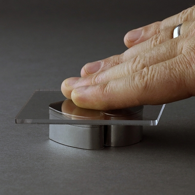 Handy Perspex Square (Hand Saver) By Robert Haynes