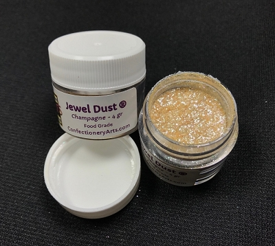 Champagne Jewel Dust 4 g. By Confectionery Arts International