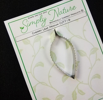 Cherry Leaf Cutter Medium By Simply Nature Botanically Correct Products® (Stainless Steel)