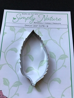 Dahlia Leaf Cutter By Simply Nature Botanically Correct Products