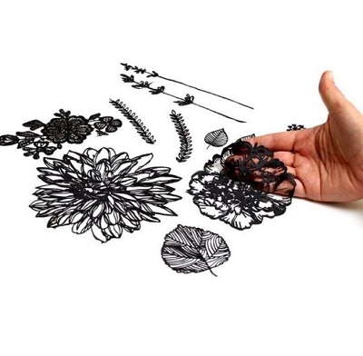 Hand Drawn Florals Silhouette Mat By Silho Cake