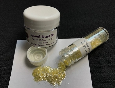 Pastel Yellow Jewel Dust 4 g. By Confectionery Arts International