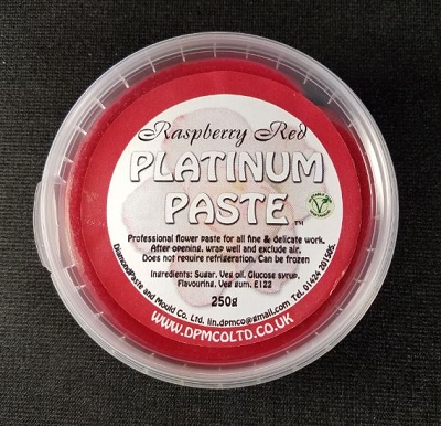 Platinum Paste Raspberry Red 250g
