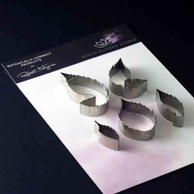 Blackberry Leaf Botanically Correct Cutters Set Of 5 By Robert Haynes