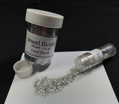 Jewel Dust Silver 14 gram By Confectionery International