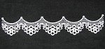Flower and Lattice Scalloped Ariel Lace Mat