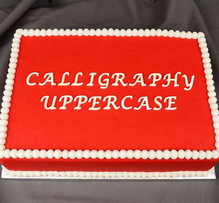 Flexabet calligraphy uppercase alphabet mold by marvelous