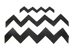 Chevron Cutter Set of 3 (Open Ended) By Jennifer Dontz