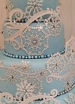 Crystal Snowflakes Sugar Dress Cake Lace Mat By Claire Bowman
