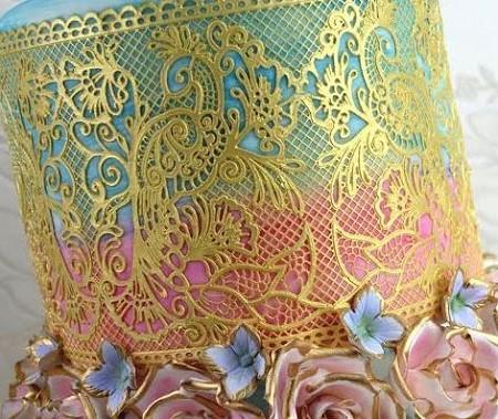 Fantasia Sugar Dress Cake Lace Mat By Claire Bowman