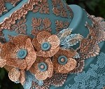 Florence Flower 3D Large Sugar Dress Cake Lace Mat By Claire Bowman