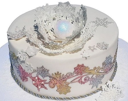 Snowflake Winter Swirls Lace Mat