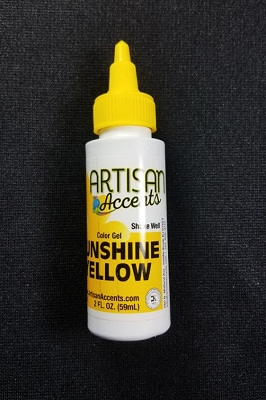 Sunshine Yellow 2 fl. oz. Gel Color By Artisan Accents