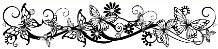 Butterflies Scroll Amazonia Lace Mat