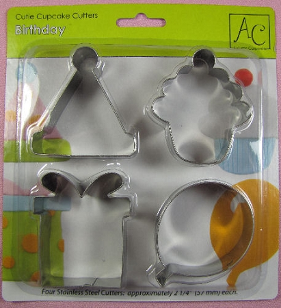 Birthday Cupcake Cutters Set By AC
