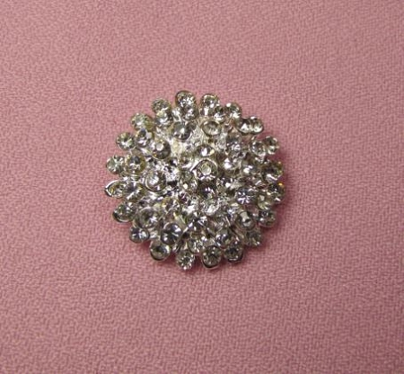 Brooch BLING Button