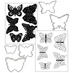 Butterfly Cookie Cutter Texture Set of 5