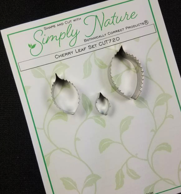 Cherry Leaf Cutter Set By Simply Nature Botanically Correct Products® (Stainless Steel)