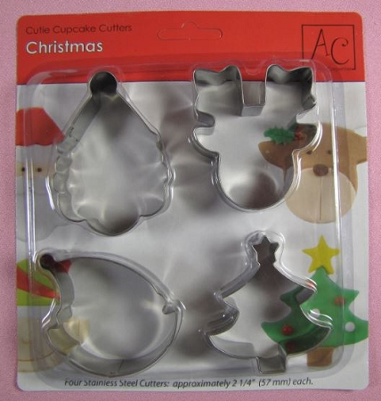 Christmas Cupcake Cutters Set By AC