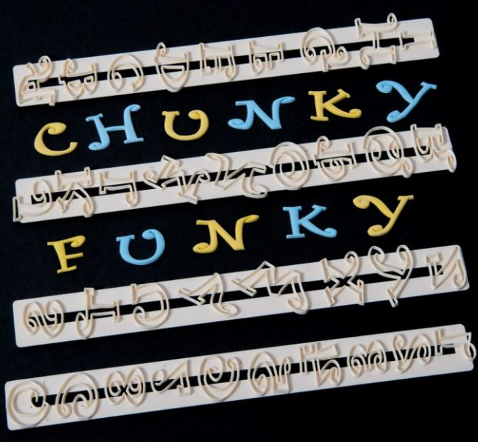 Alphabet & Numbers Set 2 cm Chunky Funky Tappits FMM