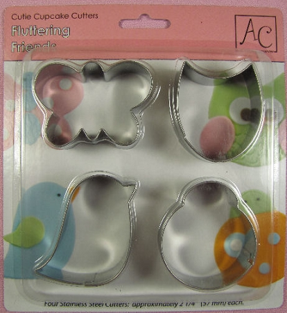 Fluttering Friends Cupcake Cutters Set By AC