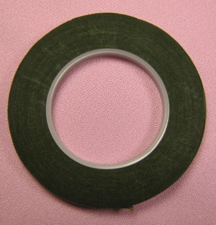 Floral Tape: 1/4 Inch MOSS GREEN Hamilworth