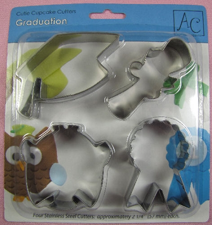 Graduation Cupcake Cutters Set By AC