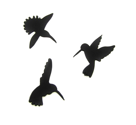 Hummingbird Set of 3 By Jennifer Dontz