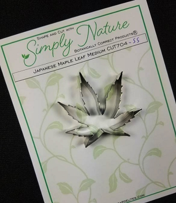Japanese Maple Leaf Cutter Medium By Simply Nature Botanically Correct Products® (Stainless Steel)