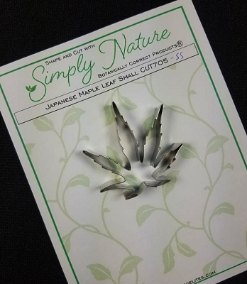 Japanese Maple Leaf Cutter Small By Simply Nature Botanically Correct Products® (Stainless Steel)