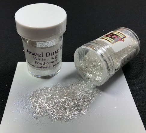 Jewel Dust White 14 gram By Confectionery Arts International