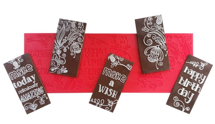 Make a Wish Chocolate Panels Mat