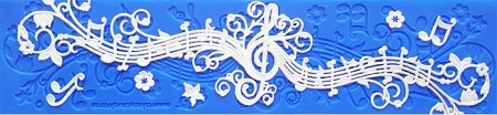 Musical Melody Lace Mat