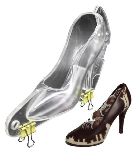 39f36af7337 3D Mini Stiletto High Heel Shoe Poly Chocolate Mold By NY Cake