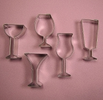 Party Glass Cutters Set of 5