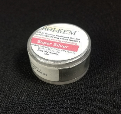Silver Metallic Super Dust By Rolkem