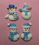 Snowman Set of 4 By Sugar Delites