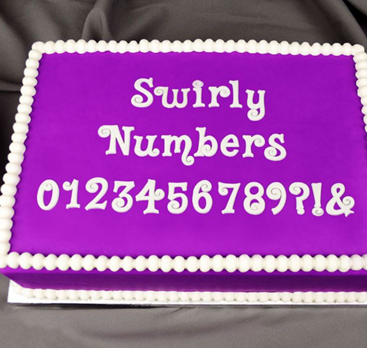 Flexabet Swirly Numbers Mold By Marvelous Molds