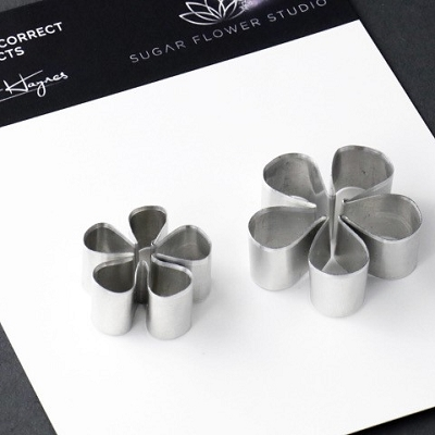 Blackberry Whole Flower & Opening Flower Set Of 2 Cutters Botanically Correct Products By Robert Haynes