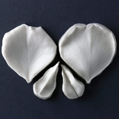 David Austin (Olivia) Rose Petal Set Of 2 Botanically Correct Cutters By Robert Haynes
